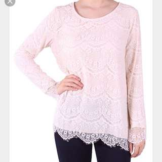Poplook Poppy Beckie Lace Blouse