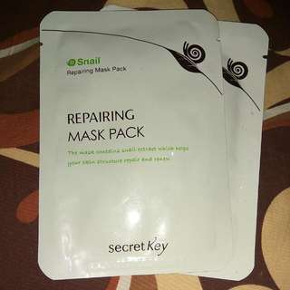 Secret Key Repairing Mask Pack Snail