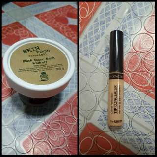 Skinfood Black Sugar Mask and The Saem Tip Concealer Bundle