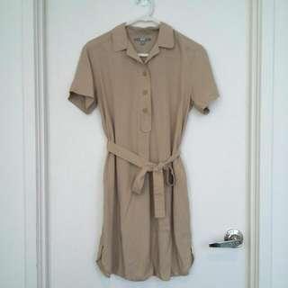 UNIQLO Tan Dress- Size S