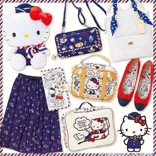 🇯🇵新品入荷「現貨」空姐遊世界風kitty旅行手提萬用包