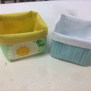 Soft Reversible Fabric Baskets