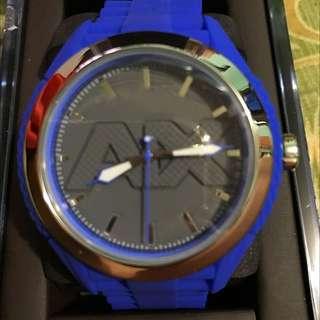 Armani Blue Silicon Watch