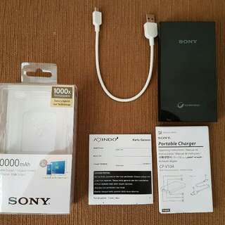 SONY Powerbank / Power Bank / Portable Charger 10000 mAh Fast Charger