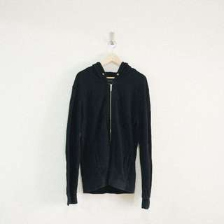 二手 日本 / ZARA 黑色 大尺寸 OVERSIZE 連帽外套