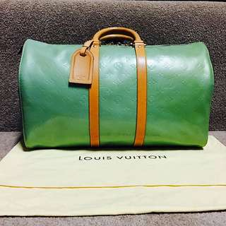 Authentic Louis Vuitton Vintage Boston Mercer Vernis Travel Bag