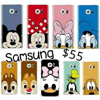 Samsung case迪士尼卡通手機殼唐老鴨米奇高飛