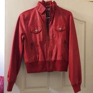 全新 紅皮外套