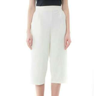 White Cullote pants