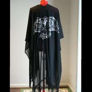 Black Outer Kimono...