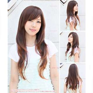HIGH QUALITY Dark brown MADE IN JAPAN SYNTHETIC WIG M SIZE 100% MODACRYLIC FIBER COSPLAY HEAT RESISTANT