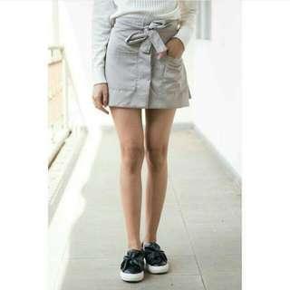 short pants ribon grey