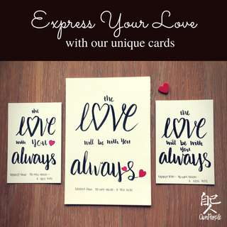 Star Wars Inspired Cards - The Love Will Be With You Always