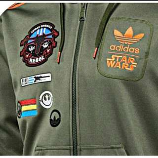 BNWT still in packaging. Adidas Star Wars Rebel X-Wing Military Hoodie Jacket - Extremely Rare.