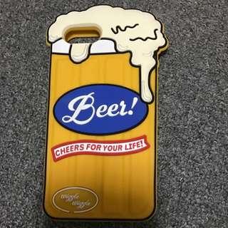 iPhone 7plus防摔防撞啤酒手機殼