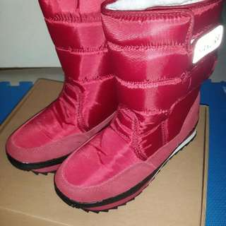 保暖太空雪靴(酒紅)