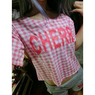 夏裝 紅白格紋Cherry