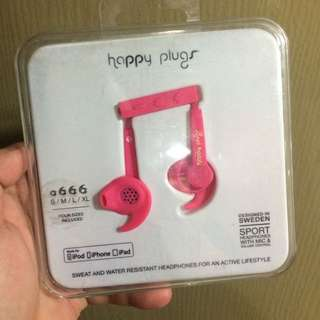 75% Off With 6 Months Warranty! Brand New Happy Plugs Water And Sweat Resistant Earphones