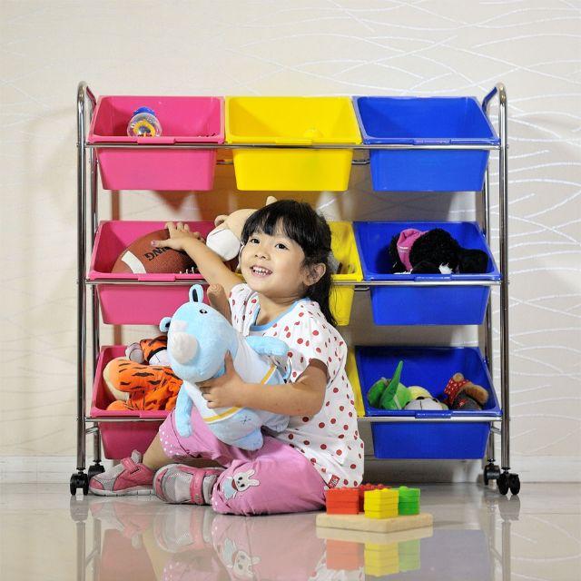 可移式9格玩具收納組-特惠