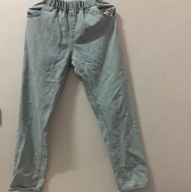 (近全新)淺藍色牛仔褲