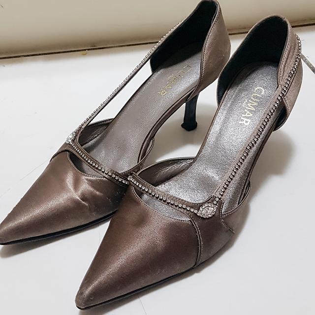 二手尖頭仿鑽新娘鞋 高跟鞋