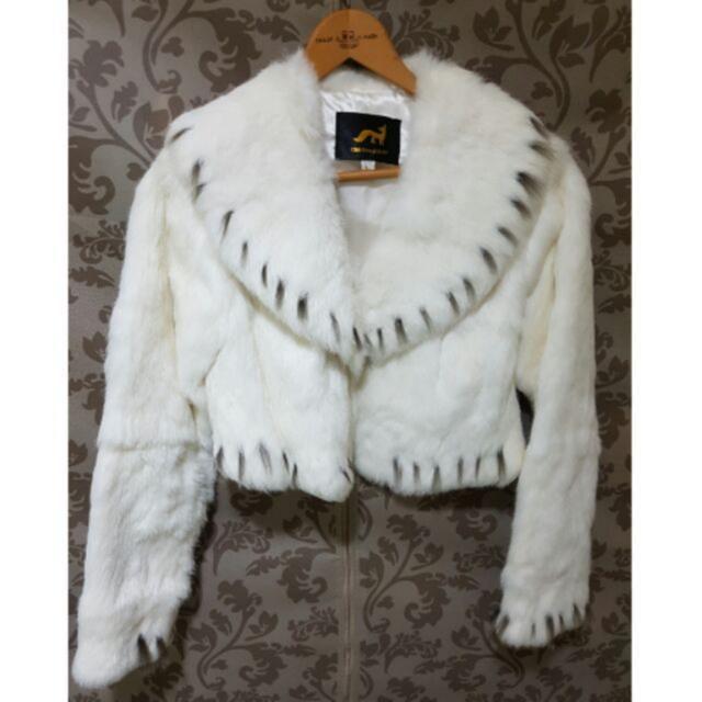 現貨  秋冬款 毛料短版外套 外套 氣質外套