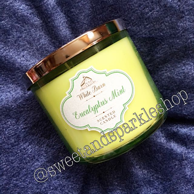 Bath & Body Works Three Wicked Candle in Eucalyptus Mint