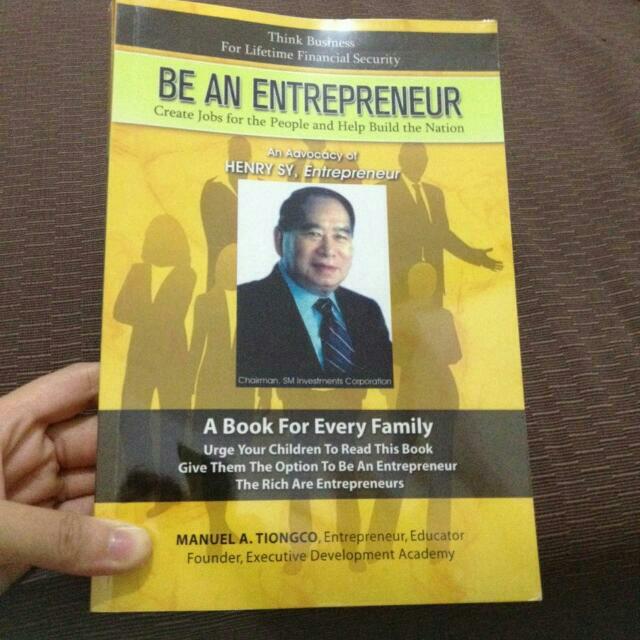 Be An Entrepreneur Book