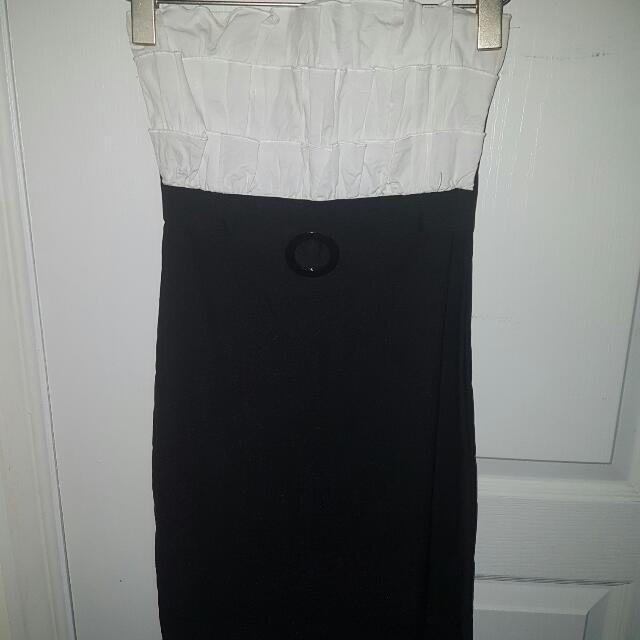 Black And White Pencil Skirt Dress