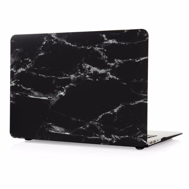 Black Grey Marble Pattern Hard Case Cover for Macbook Air/Pro