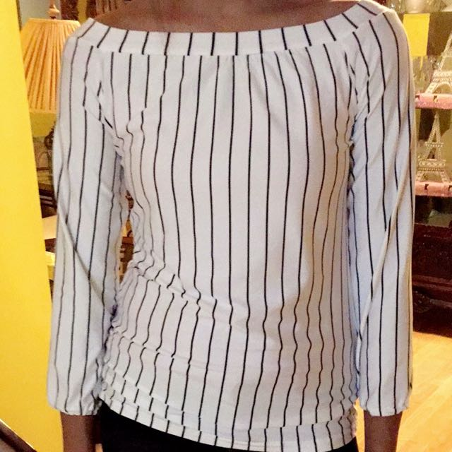 Black/White Stripes Top