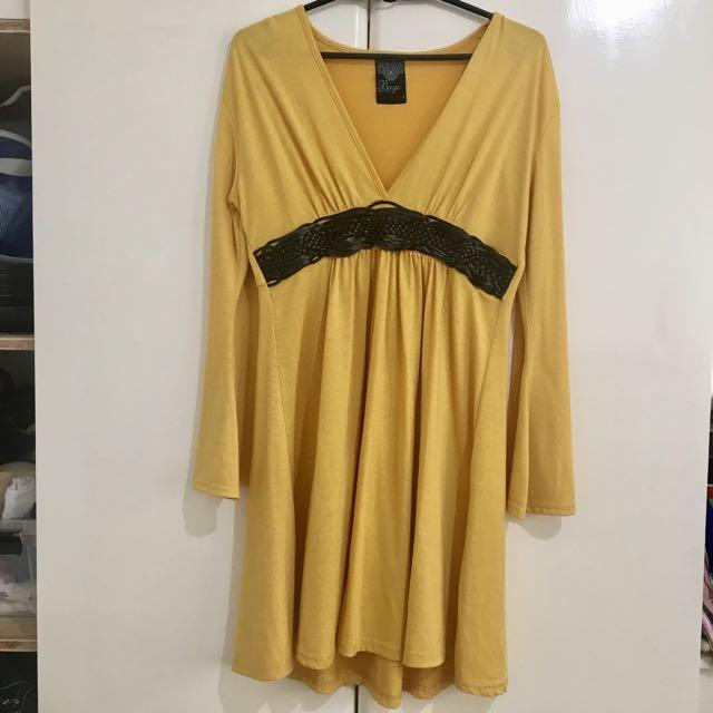 Bohemian Mustard Dress