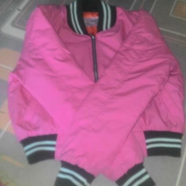 Bomber Crop Pink