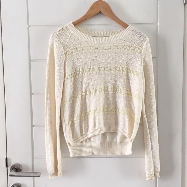 bone white sweater