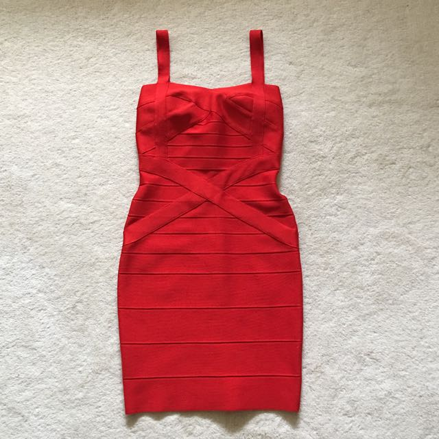 Boutique Red Bodycon Cocktail Dress Size AU8
