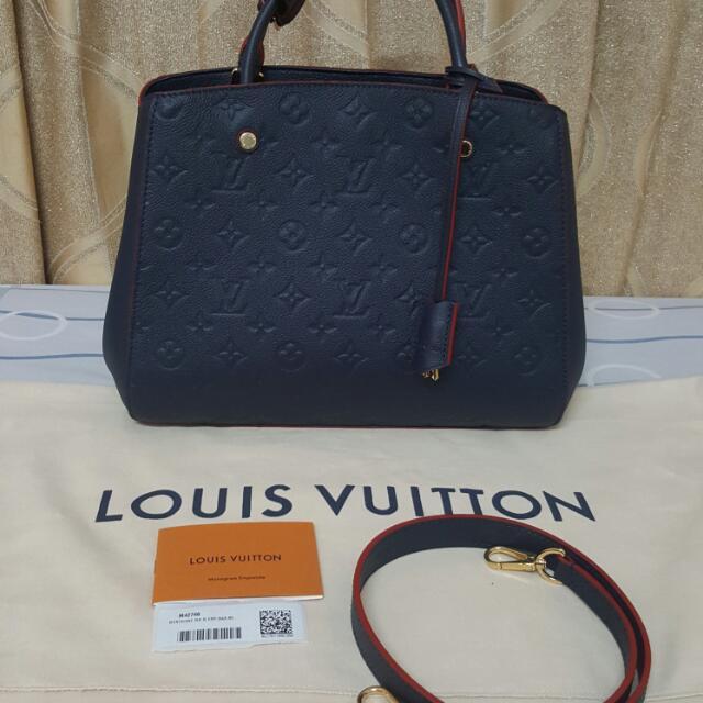 BRAND NEW Authentic Louis Vuitton Montaigne MM Empreinte Leather ... d0871854dccff