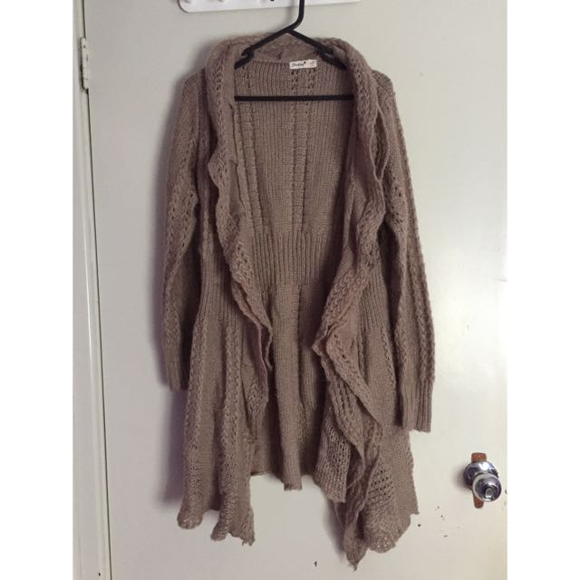 Brown/beige Wool Cardigan