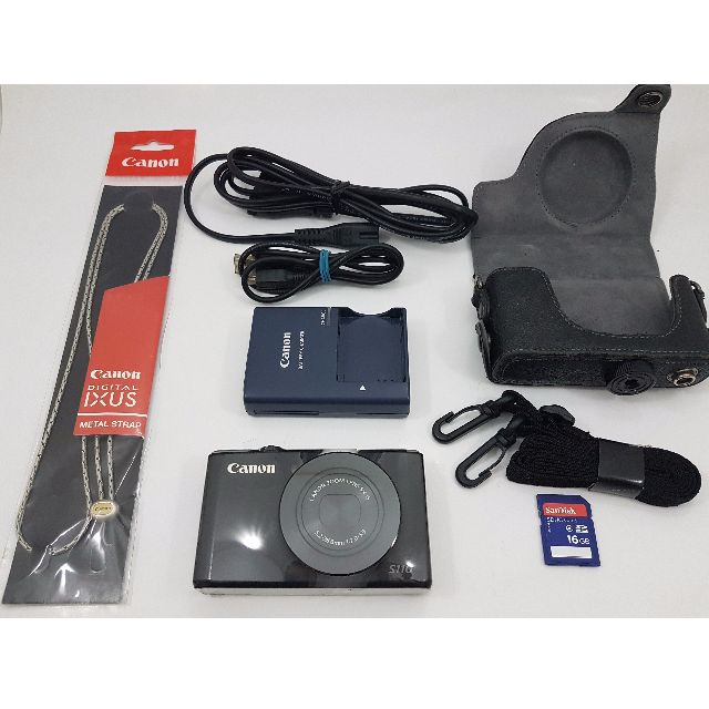 Canon Powershot S110 pocket digicam+16GB sandisk memory card