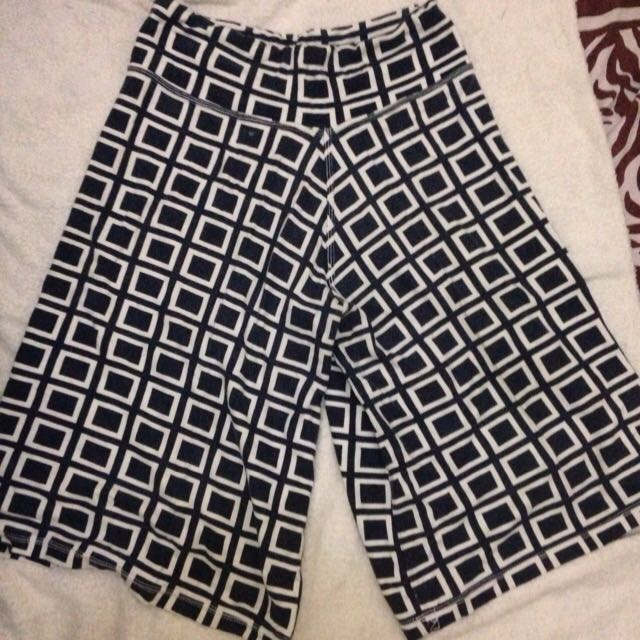 CHECKED PATTER CULOTTE