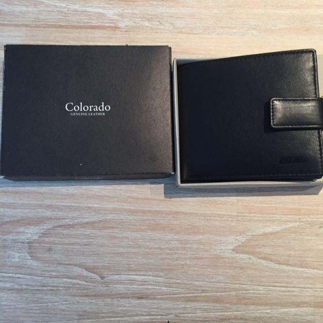 Colorado Black Leather Wallet