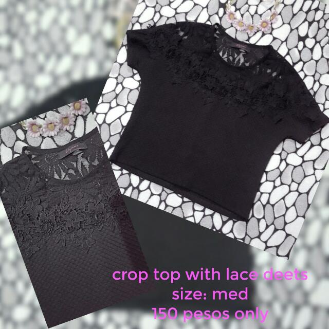 Crop Top With Lace Details