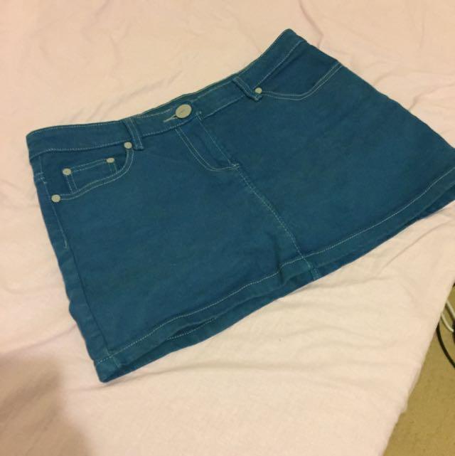 Denim Skirt Size L