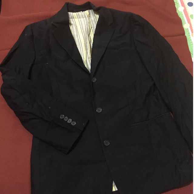Father and sons Black felt coat