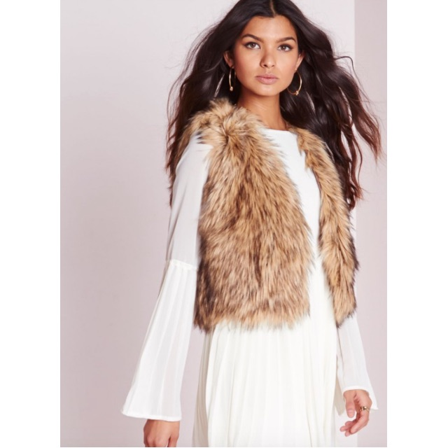 Faux Fur Tan Gilet