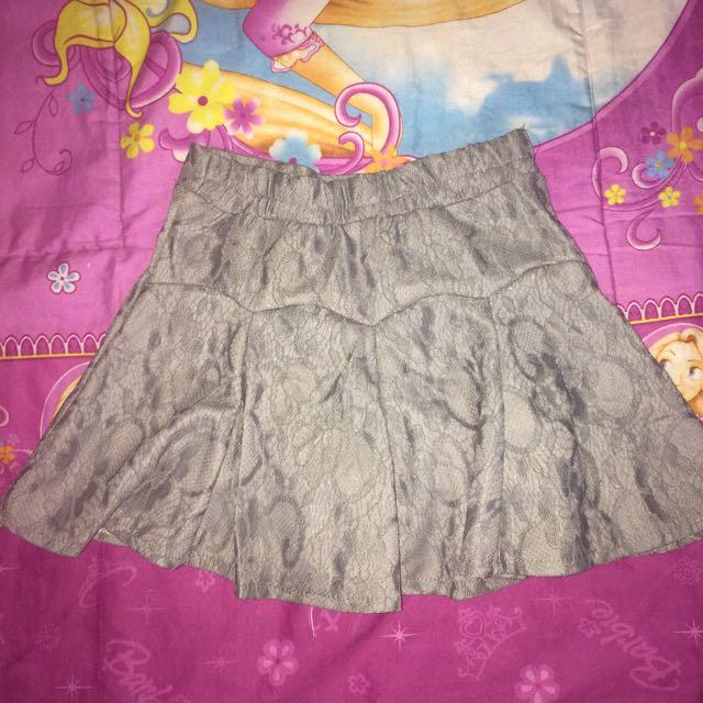 Flare Skirt Brokat