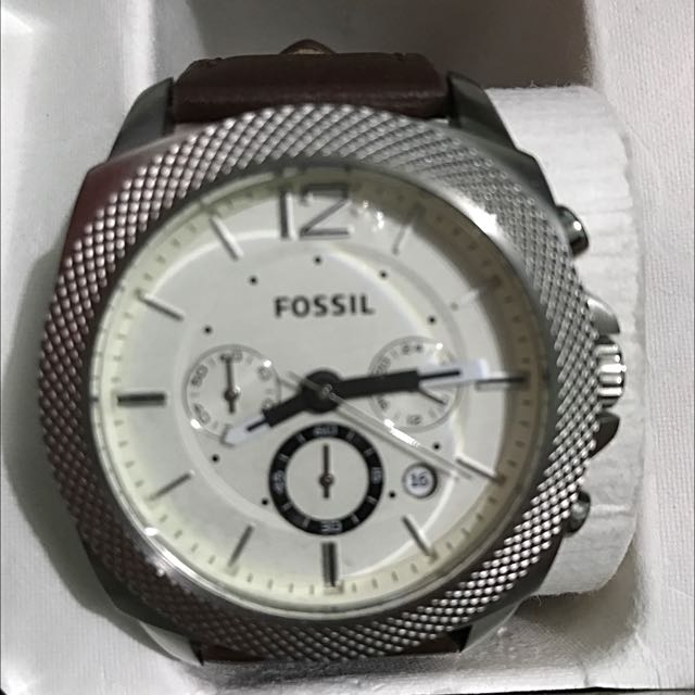 Fossil Chrono Leather Watch