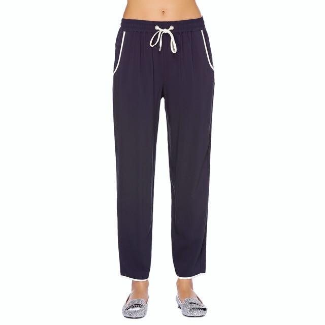 FRENCH CONNECTION Navy Tie-waist Trousers