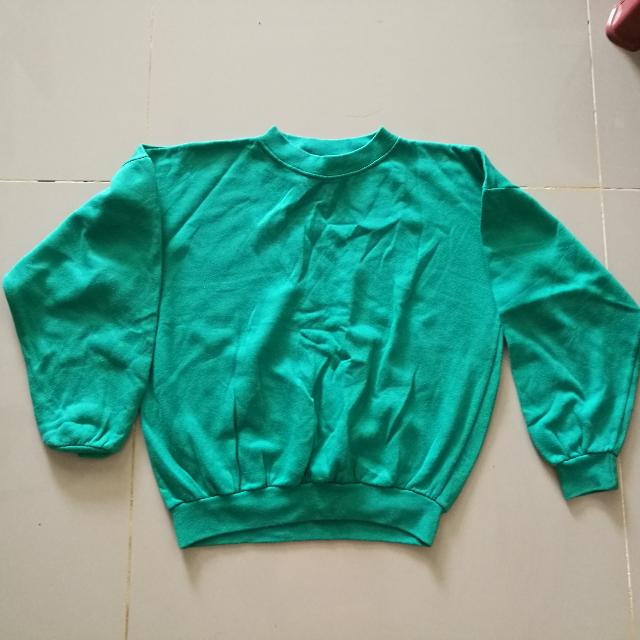 Made In France - Girl's Green Pullover