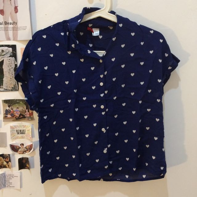 H&M Heart Print Top