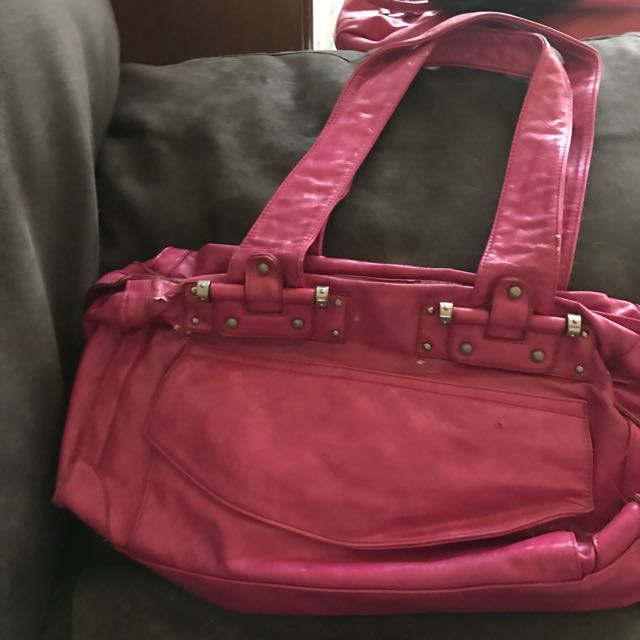 Hot Pink Patent Leather Bag